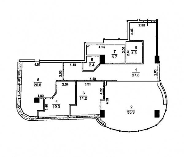 Планировки двухкомнатных квартир 120 м^2